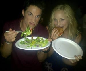 the vampire diaries, candice accola, and michael trevino image