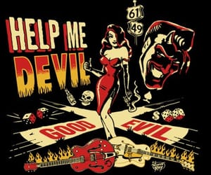 Devil and rockabilly image