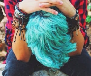 boy, hair, and hairblue image