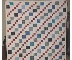 quilt, red white blue, and vintage pattern image