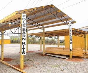 metal garage, livestock area, and metal barn image