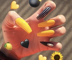 nails, yellow, and black image