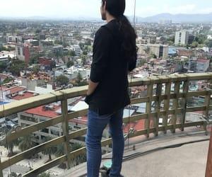 hair, long hair boy, and black image
