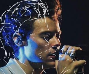 blue, edit, and Harry Styles image