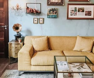 accent wall, blue, and decor image