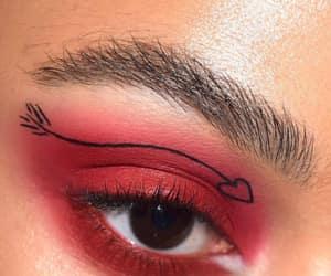 brown, eye, and heart image