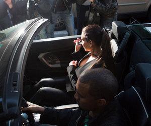 kim kardashian, kanye west, and car image