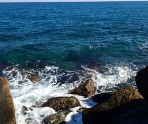blue, sea, and sun image