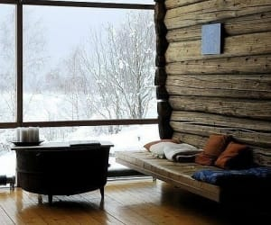 snow, interior, and winter image