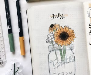inspiration, july, and bulletjournal image