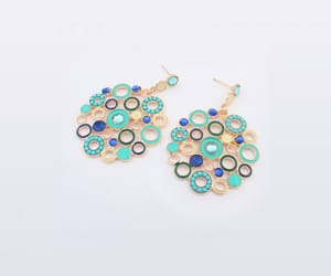 online fashion, stylish earrings, and latest earrings image