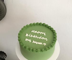 green and cake image