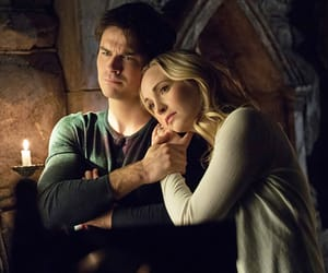 the vampire diaries, caroline forbes, and ian somerhalder image