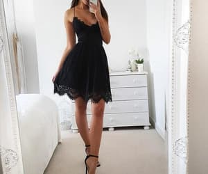 dress, lace dress, and party dress image