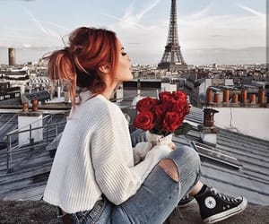 paris, fashion, and flowers image