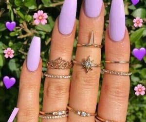 lilac and nails image