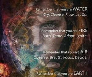 earth spirit, water fire air, and remember that you image