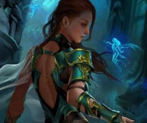 fairies redhead, green armor redhead, and gold green armor image