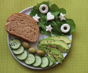 breakfast, green, and cucumber image