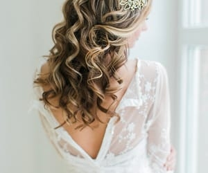 etsy, wedding hair comb, and floral headband image