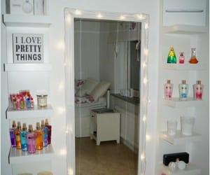 room, decor, and mirror image
