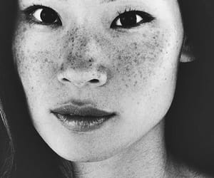 lucy liu, freckles, and beauty image