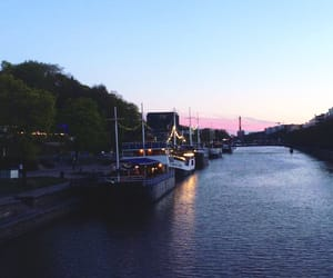 finland, night, and river image