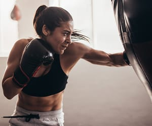 active, boxing, and fitness image