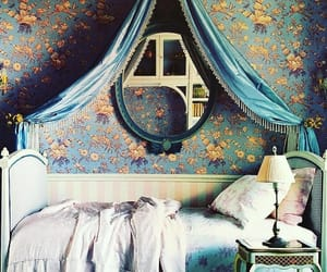 baroque, bedroom, and blue image