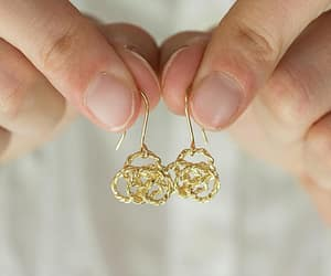 etsy, dangle earrings, and drop earrings image