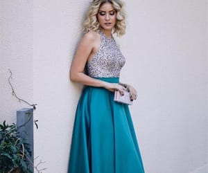 prom gown, long prom dress, and prom season image