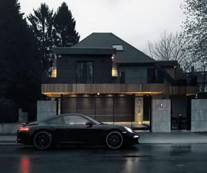 black, car, and house image