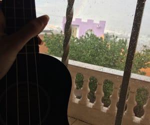 music, rainbow, and rain image
