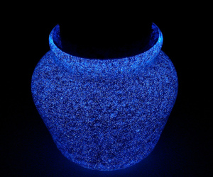 blue, jar, and lamp image