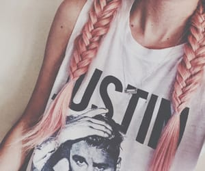 braids, cool, and pink image