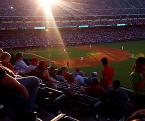 angels, summertime, and baseball image