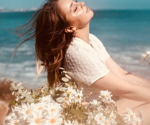 brunette, campaign, and daisy image