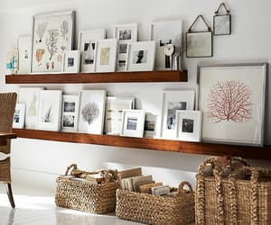ledge, picture frames, and shelves image