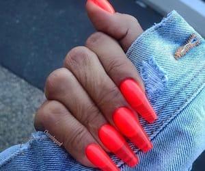 acrylic, nail polish, and nails image