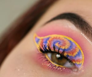 colorful, eye, and lashes image