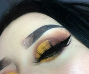 brown, eyeshadow, and glam image