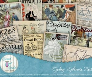 bicycle, cycling, and vintage advertising image