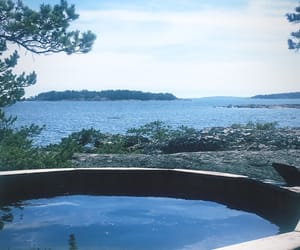 cottage, ocean, and swimming image