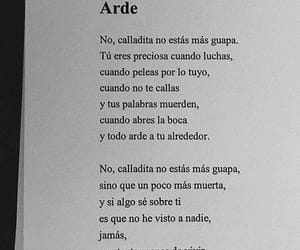 frases, quierete, and arde image