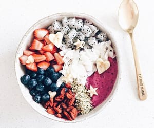 blueberry, coconut, and fitness image