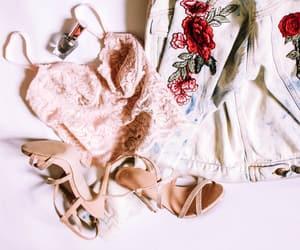 bra, girl, and heels image