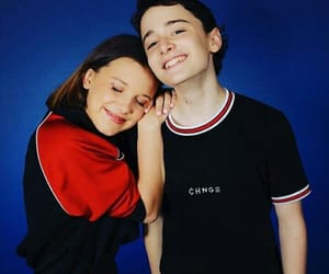 stranger things, noah schnapp, and millie bobby brown image