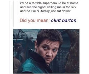 hawkeye, clint barton, and funny image