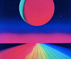 rainbow, 80s, and aesthetic image