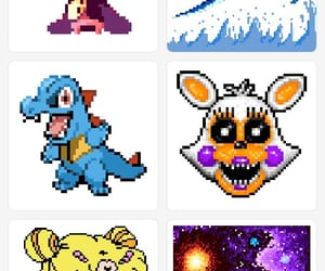 moon, fnaf, and pokemon image